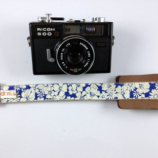 Hand made monocular. Class monocular decompression camera strap. Camera back rope --- Retro blue white flowers