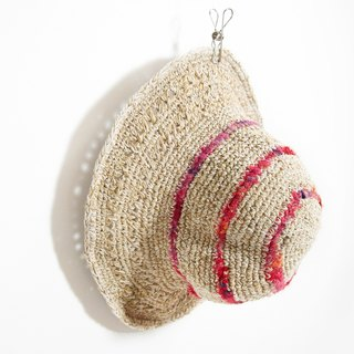 Christmas gift hand-woven cotton saris line cap / knit cap / hat / visor / hat - fresh forest (one only)