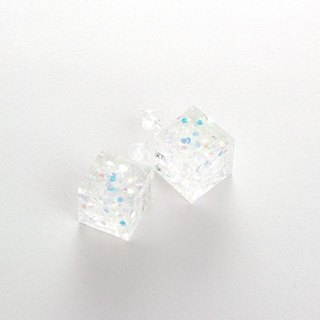 Box earrings (glitter)