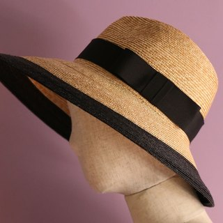"Wide brim two tone fedora hat ""Dalia"""