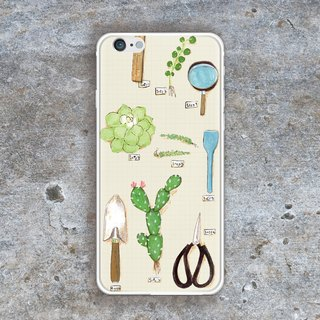 Sunday 02 - Build Your Own Balcony With Succulents B-iPhone Case - (i6plus, i6splus, i6+) - Replaceable Back Plate - Metal Frame TPU Double Slim Glossy Hard Shell