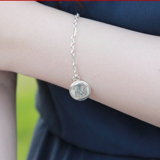"Hand 925 sterling silver bracelet [cat silhouette Logo ""big tag""] is the love mystery summer (ゝ ω ·) ~ ♡"