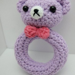 Baby Bear. Knitting wool rattle ~ cutest births ceremony