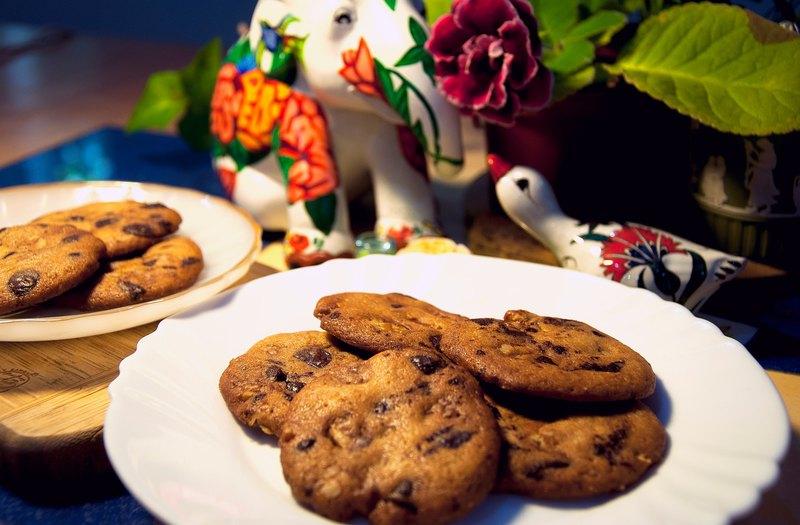 點點-核桃巧克力豆餅乾