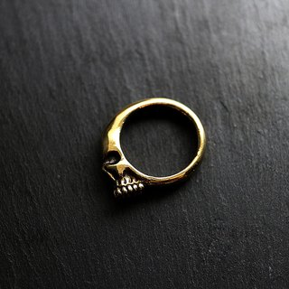 Alive brass side enamel ring