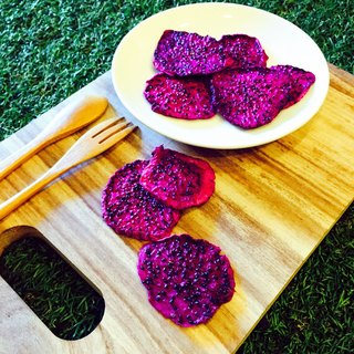 Dried red dragon fruit