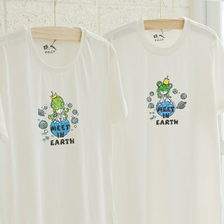 [Valentine's Day Gift] [Meet in earth] - Couples / Short Sleeve T-shirt (Girl)