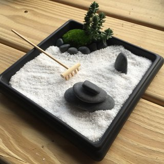 Pure natural Japanese Zen sand table Dry landscape Plant pot Zen Zen Gifts Healing Small hand zen potted