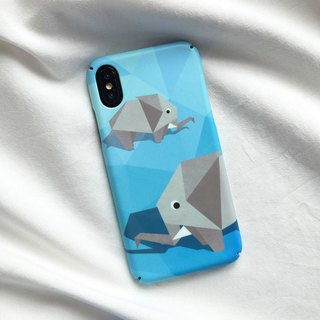 Geometric Elephant iPhone case
