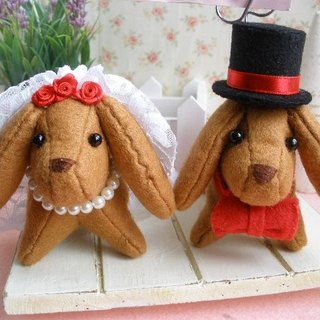 """Mini bear hand as a"" sausage dog [wedding] MEMO folder / Xie clip / Charm"