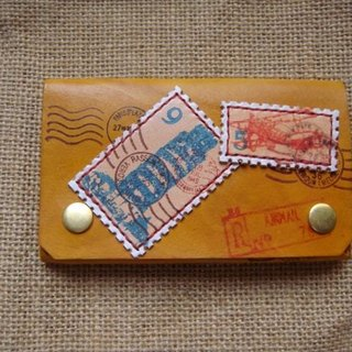 [ISSIS] [travel together] handmade leather travel stamp card holder