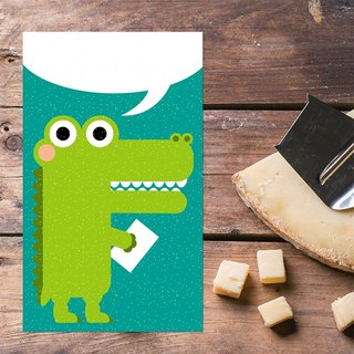 Small crocodile series Postcards - write love letters to u