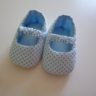 Blue and white little baby shoes doll shoes births ceremony