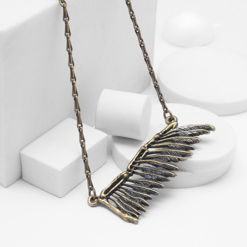 Recovery Wings Bone Necklace (Bronze)