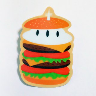 Afternoon tea party: full of big hamburger waterproof stickers