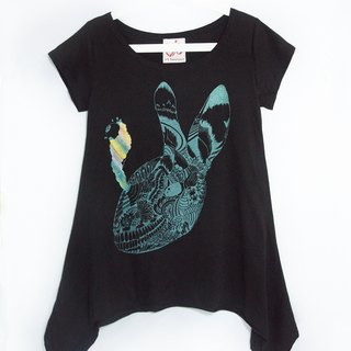 Women feel umbrella Long Blouse - Black exploding rabbit (the only remaining one)