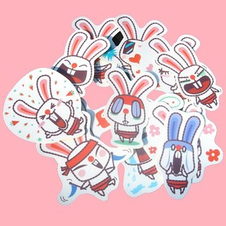 Stickers _ shaking rabbits... small stickers 12