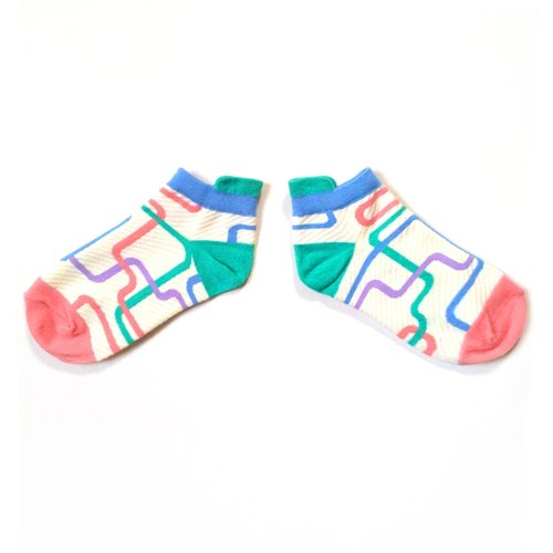Childhood memories of large infinite / naughty rainbow sugar / dream giant series of ankle socks