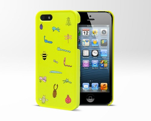 "Graffiti-iPhone 5 protective shell, ""A Bug's Life"" Buckskin Loopy"