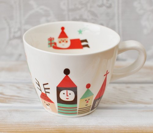 [Japan Decole] limited edition Christmas Santa Happy Christmas mug ★