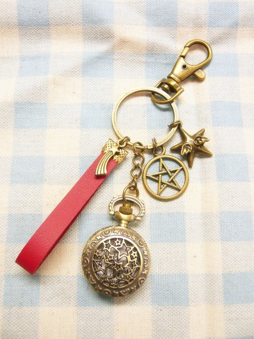 Make a wish meteor shower*stars*Star pocket watch clock key ring limited exchange gifts birthday gift graduation gift
