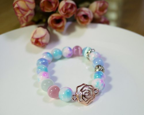 Rose Spring / natural stone stained stone bracelet bracelet