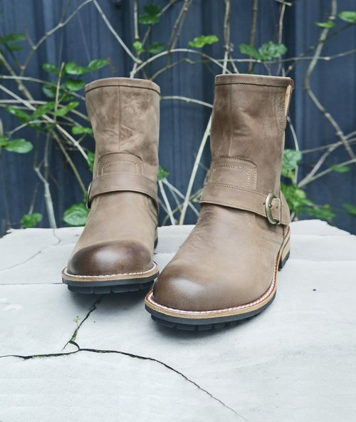 Call of the Wild] [retro rub coke works Boots - brown khaki