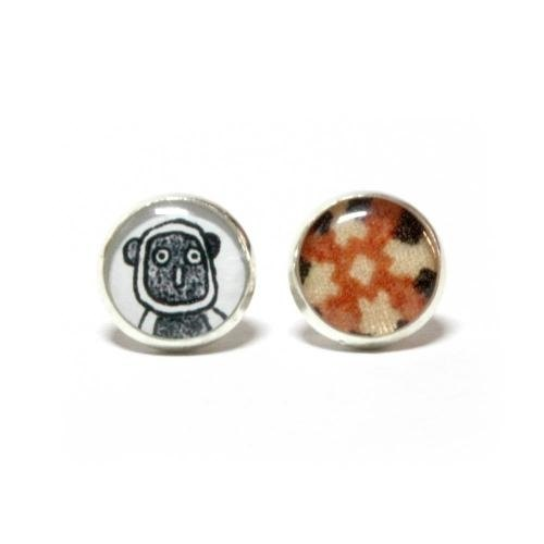 {Hong Kong independent designer brands & amp; dear} Klinefelter crown lemur coquerel's sifaka earrings