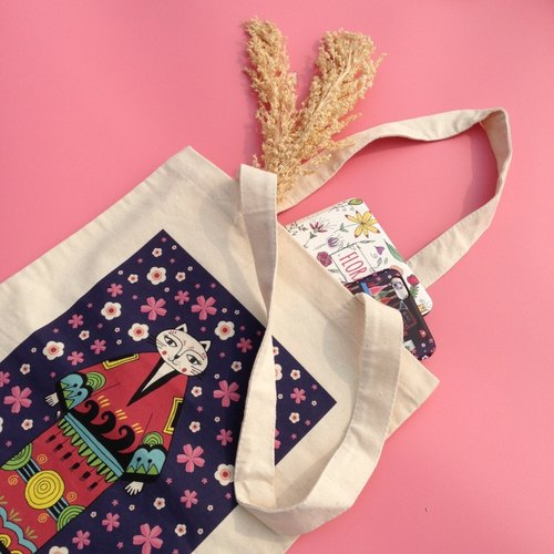 D.W.L'S LITTLE SHOP-[Small bar] canvas bag / bag / simple bag