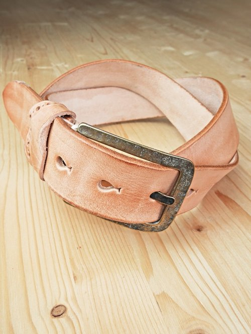 Chainloop homemade handmade belts can be customized size original color cowhide wide version of the belt