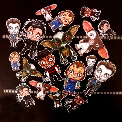 Color pencil painted insensibly baby doll series waterproof stickers - movie star kit (Halloween Edition) 18 into