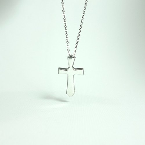 Silver cross necklace ---Mirror--- (chain sold separately)