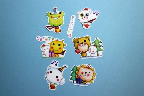 Play not tired _ small stickers Christmas package