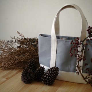 Classic Tote Bag Msize gray x kinari - Gray x Native White -