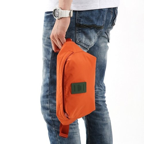Dessin x monopoly- city tour nylon lightweight dual pockets L- vitality orange, MPL22235
