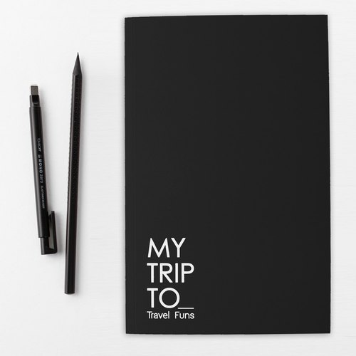 [Travel Funs] Step-by step Planning Travel Notebook (Black)