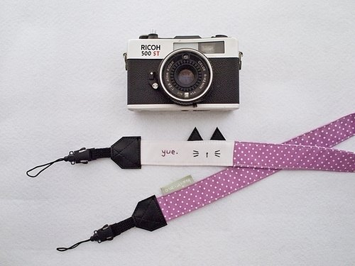 hairmo. Amy Eye camera strap hanging cat double - holes (12 lilac)