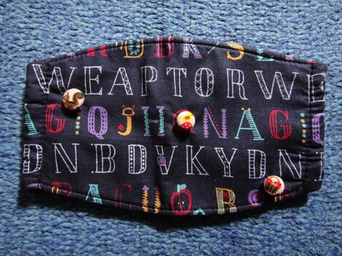 (C) alphabet letter _ Button Cloth masks