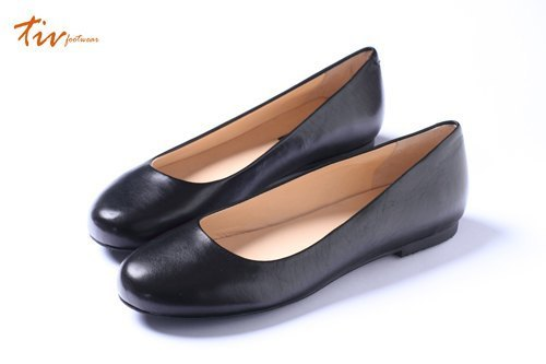 Soft Black | Round doll shoes