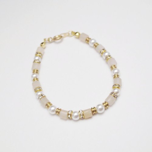 [Orange] MUCHU Mu Miss Pearl. DF brass shell pearl powder bracelet / bracelet PB041
