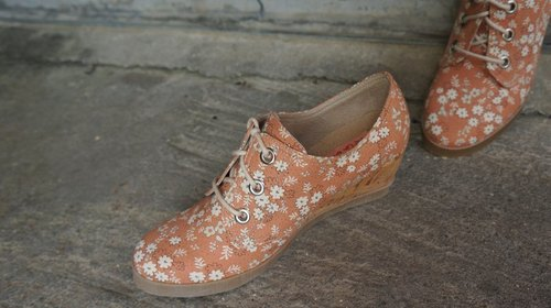 Rita617 Fenju flower wedge shoes (Hobbyra Hobbyre cloth paragraph)