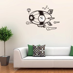"""Smart Design"" creative dream flight ◆ Seamless wall stickers (including Taiwan-made movement) 8 color options"