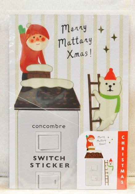[Japan] Christmas limited edition Christmas Decole switch stickers / wall stickers ★ Santa Claus