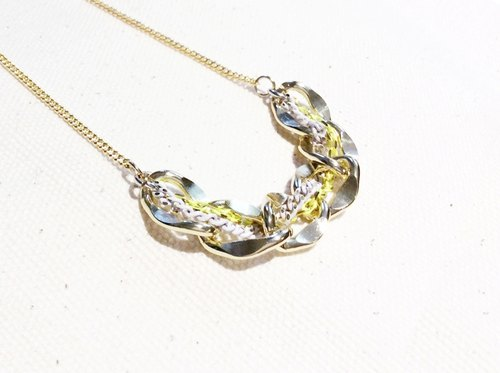 ~ ♥ smile universe white + fluorescent green necklace ✿ ✿