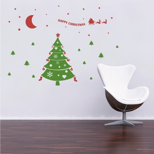 Smart Design Seamless wall stickers creative context 9 color optional ◆ Christmas