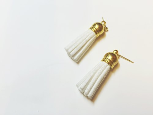 Marygo ﹝ white gold earrings tassel ﹞