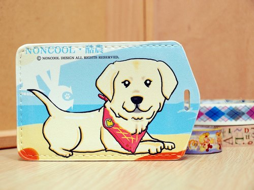 """NONCOOL‧ Cool farming"" new * Pull Labrador travel card sleeve / card holder"