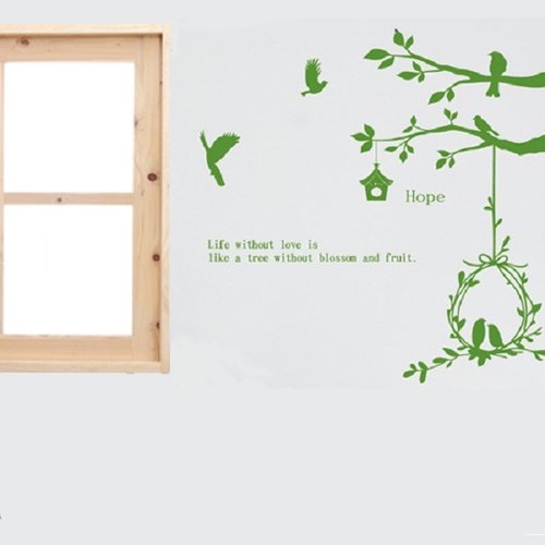 """Smart Design"" Creative Seamless bird tree wall stickers ◆ 8 color options"