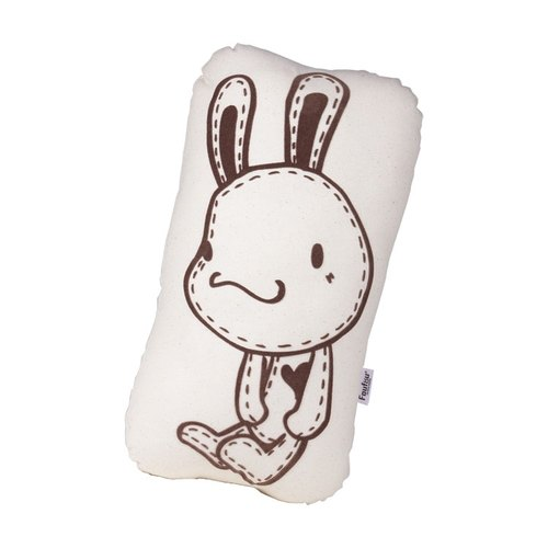 """Foufou"" Hand pillow - rabbit Po (beige canvas)"