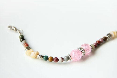The Fam / Gion Shirakawa cherry - natural stone bracelet
